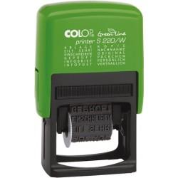 Wortbandstempel GreenLine 12 Texte grün Druckfarbe schwarz