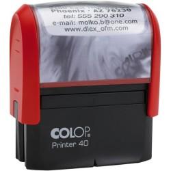 Textstempel PrinterLine mit Gutschein 59x23mm rot