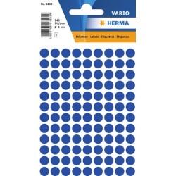 Etiketten Herma Klebepunkte 8mm Ø blau Schachtel á 540 Stück