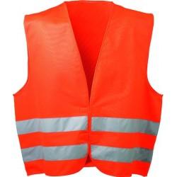 Warnweste Klettverschluss orange
