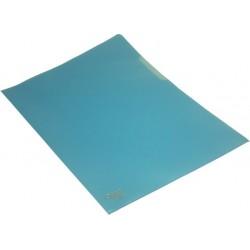 Sichthüllen A4 120 mµ genarbt oben + rechts offen blau / 100 St.