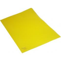 Sichthüllen A4 120 mµ genarbt oben + rechts offen gelb / 100 St.