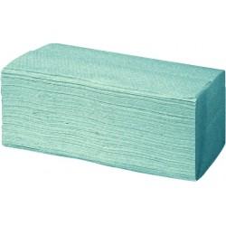 Papierhandtuch Zick-Zack-Falzung 25x23cm Tissue grün 3200Blatt