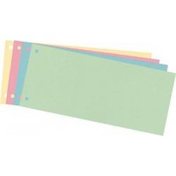 Trennstreifen Trennlaschen 10,5x24cm 180g gelocht farbig sortiert 50 St.