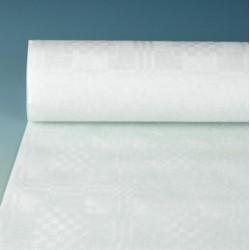 Tischdecke Papiertischdecke Damastpapier Rolle 100cmx50m weiß