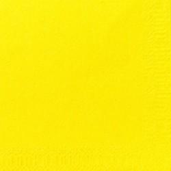 Duni Servietten Zelltuch 3lagig 1/4 Falz 24x24cm gelb 250St.