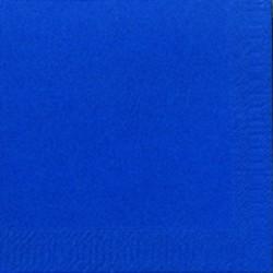 Duni Servietten Zelltuch 3lagig 1/4 Falz 24x24cm blau dunkel 250St.