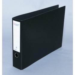 Ordner A3 quer Hartpappe 80mm SK Rücken Griffloch schwarz 1St.
