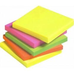 Haftnotizblock 76x76mm neon farbig sortiert 12er Pack