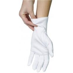 Handschuhe unsteril Baumwolle gebleicht Größe M weiß Pckg. á 12 Paar
