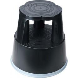 Rollhocker Kunststoff Höhe 43 cm schwarz
