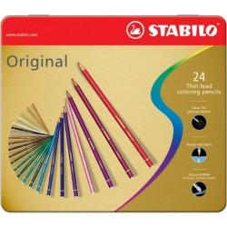 Farbstift Künstlerfarbstifte STABILO Original 24er Etui sortiert