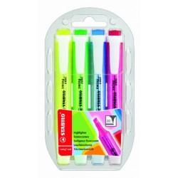 Textmarker Stabilo swing® cool Einweg flach Keilspitze 1-4mm Set mit 4 Stück