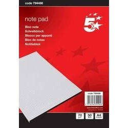 Briefblock A4 70g/m² hf blanko 50 Blatt weiß mit Deckblatt (1 St.)