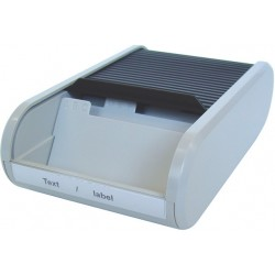 Visitenkartenbox mit Jalousieverschluß PVC gau (1 St.)