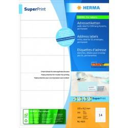 Etiketten 105x42,3mm Herma SuperPrint 4625 weiß 2800St./Pckg.