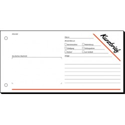 Kurzbrief Sigel F213 1/3 A4 1fach Blaupapier 100 Blatt