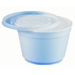 Suppenbecher To Go PS 0,5l 12x8cm weiß inkl. Deckel farblos 50St.