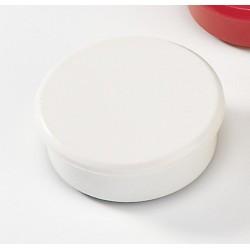 Magnet rund Ø 38mm Haftkraft 2,5kg weiß (10 Stück)