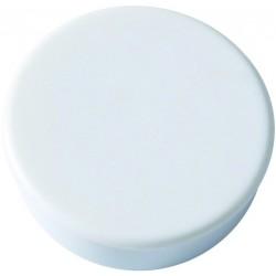 Magnet rund Ø 30mm Haftkraft 0,85kg weiß (Pckg. á 10 Stück)