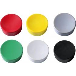 Magnet rund Ø 35mm Haftkraft 2,5kg farbig sortiert (Pckg. á 10 Stück)