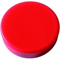 Magnet rund Ø 25mm Haftkraft 0,425kg rot (Pckg. á 10 Stück)