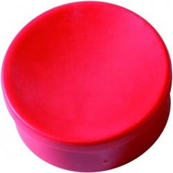 Magnet rund Ø 35mm Haftkraft 2,5kg rot (Pckg. á 10 Stück)