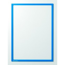 Infotaschen magnetisch DIN A4 312x225mm blau  VE= 5 Stk.