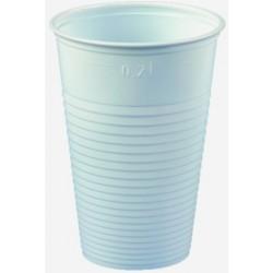 Trinkbecher Einweg PS gerillt 200ml 7,0x9,9cm weiß VE=100St.