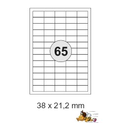 Etiketten Selbstklebe-Etiketten 38x21,2mm E14 (19.500 Stück = 3 Päckchen)