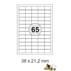 Etiketten Selbstklebe-Etiketten 38x21,2mm E14 (26.000 Stück = 4 Päckchen)