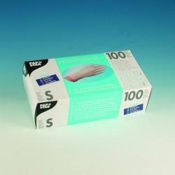 Handschuhe Einweg unsteril Vinyl puderfrei Größe S natur Spenderschachtel á 100 Stück