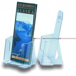 Prospekthalter Flyer 1 Fach 1/3 A4 transparent