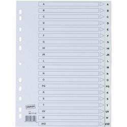 Register A-Z A4 PP-Folie 0,12mm volle Höhe 20 Blatt weiß