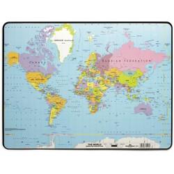Schreibunterlage Weltkarte Europakarte B 53 x T 40 cm farbig