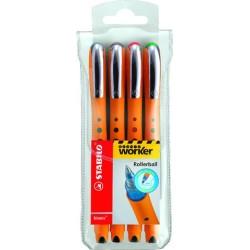 Kugelschreiber Stabilo Tintenkuli bionic® Worker 0,3mm 4er Set