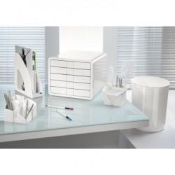 Schubladenbox iBox m. 5 geschl. Schubladen C4 weiß hochglanz