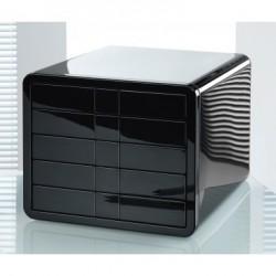 Schubladenbox iBox m. 5 geschl. Schubladen C4 schwarz hochglanz