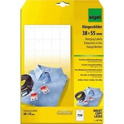 Etiketten Hängeschilder f. Preisauszeichnung Sigel LP716 38x55mm weiß 1Pckg.