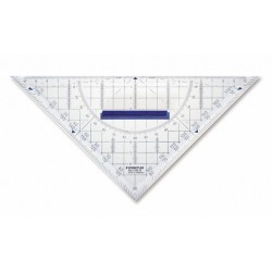 Geometrie-Dreieck 22,5cm/1mm mit abnehmbaren Griff Winkelskala 180°