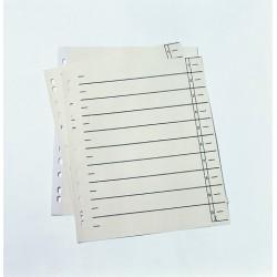 Trennblätter DIN A4 chamois 230g/m²  Pckg. á 10 Stück