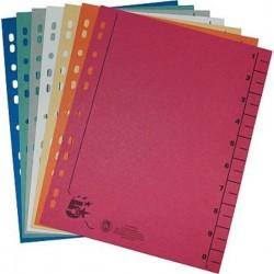 Trennblätter A4 Kraftkarton 230g/m² Standardloch. farbig sortiert 100 St.