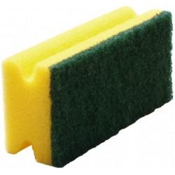 Schwamm mit Scheuervlies 9,5x7x4,5cm gelb /grün 6er Pack