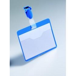 Namensschild 60x90mm mit Clip vorne offen blau 25 St.