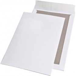 Papprückwandtaschen C4 ohne Fenster hk 120g/m² weiß (100 Stck.)