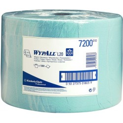 Wischtuch Wypall L20 1lagig Großrolle 23,5x38cm blau 1000 Blatt/Rolle