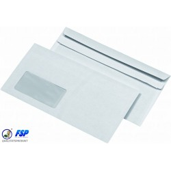 Briefumschläge Kompakt mit Fenster sk 229x125mm 1000St.