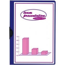 Klemmmappe PVC-Folie transp.Vorderd. A4 für 30Bl. blau
