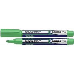 Textmarker Schneider MAXX 115 nachfüllbar Keilsp.1-4mm grün