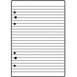Ringbuch-Einlage A5 liniert 70 g/m² 50 Blatt
